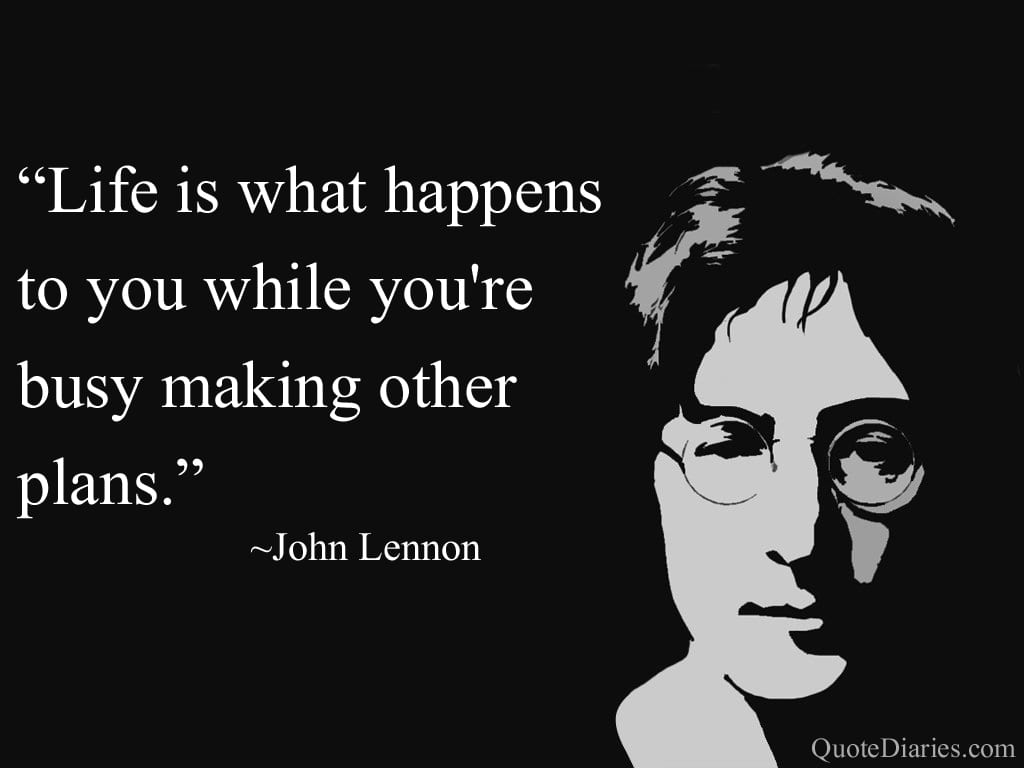Quote By John Lennon Concerning Life